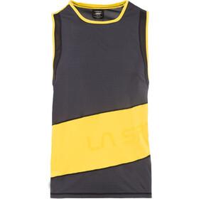La Sportiva Track Tanktop Heren, zwart/geel